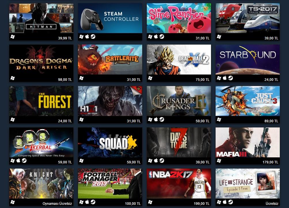 Bronz Grubu 2016 Yılında Steam'de Satan En Çok 100 Oyun