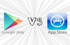Google Play, App Store