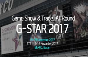 G-Star, Güney Kore'de Önümüzdeki Ay Başlayacak