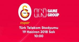 Galatasaray ve Ingame Gruptan Anlaşma