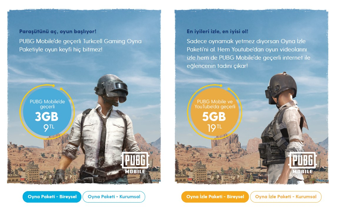 PUBG Mobile için Turkcell'den 2 Yeni Paket