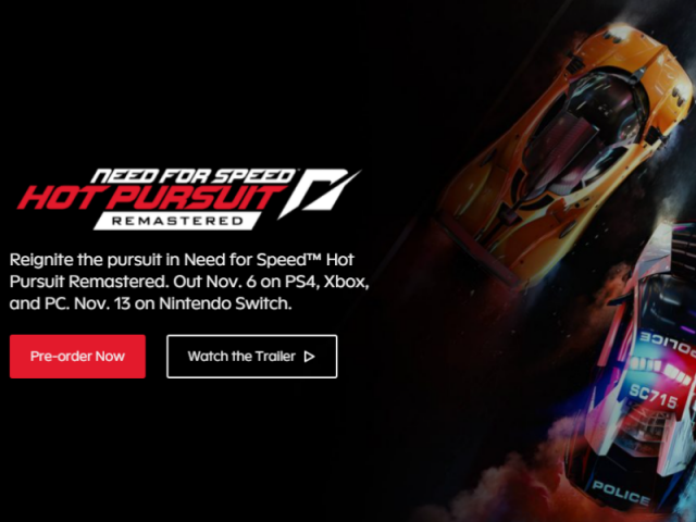 Need for Speed Hot Pursuit Remastered Geliyor!