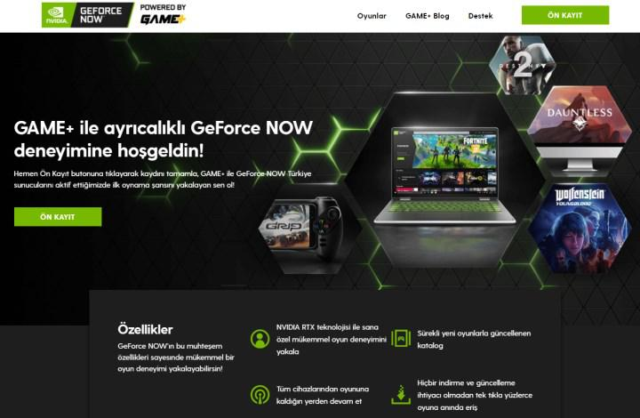Turkcell Game+ GeForce Now