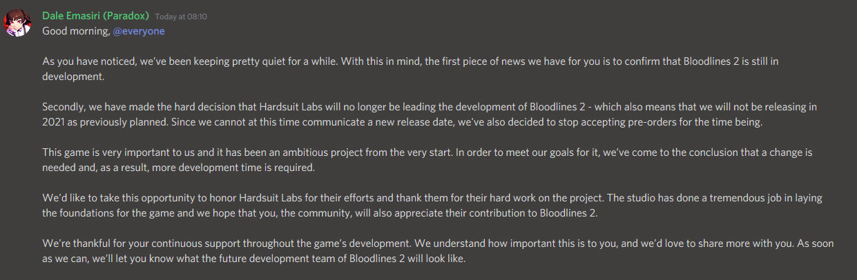 Vampire the Masquerade: Bloodlines 2 Ertelendi